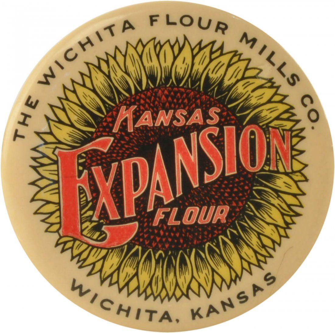 Kansas Expansion Flour Celluloid Pocket Mirror