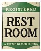 Texaco Registered Restroom Sign