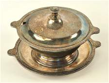 Great Northern Railroad Early Silver 3pc Soup Service