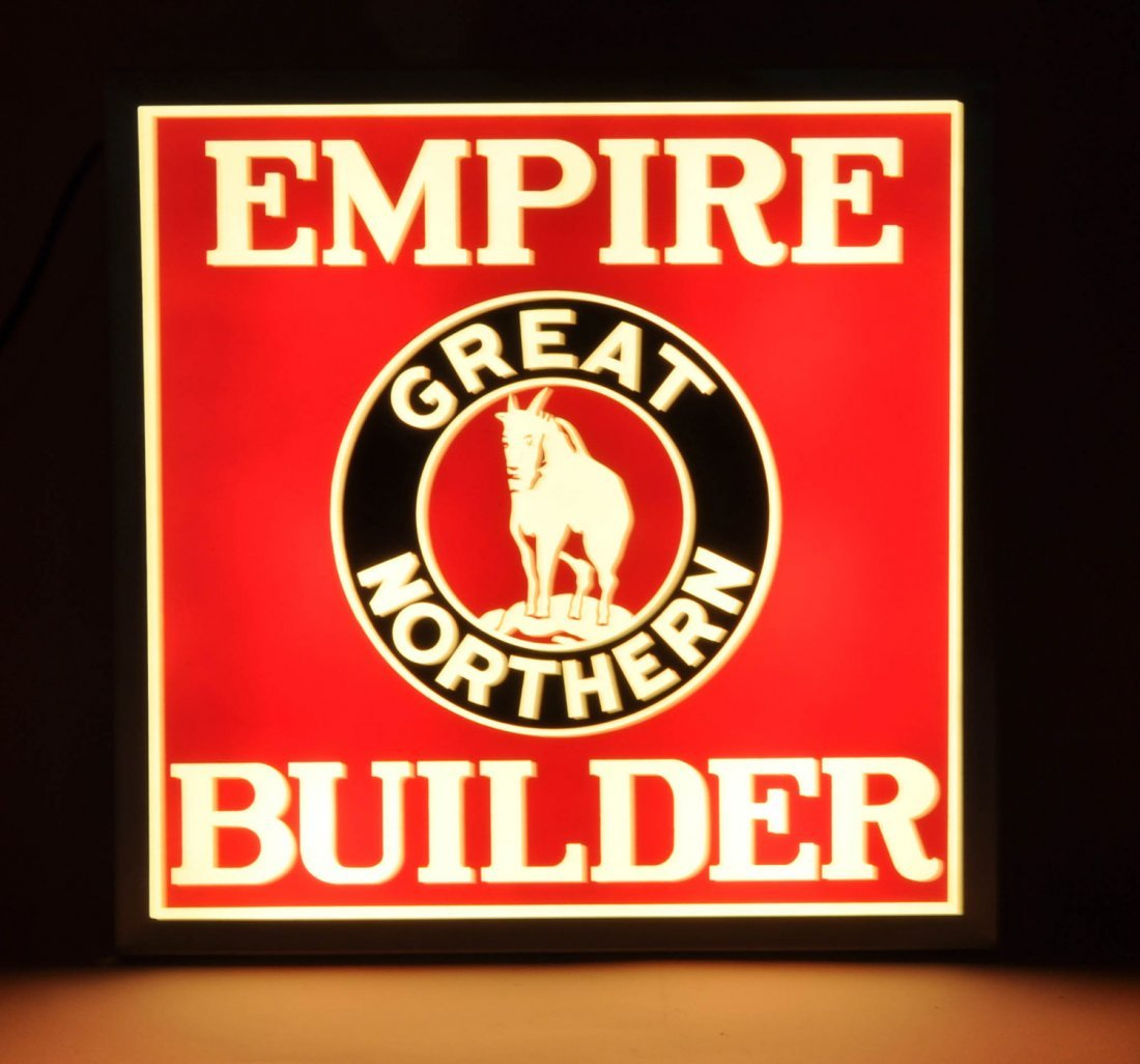 Great Northern Empire Builder Glass Drumhead