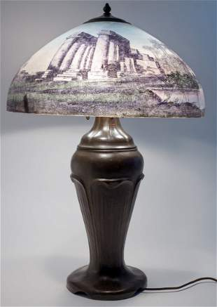 Handel Egyptian Ruins Table Lamp #6004