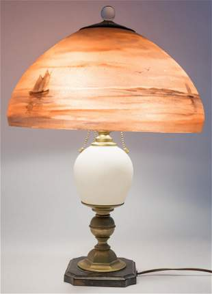 Handel Moonlit Harbor Table Lamp #6001