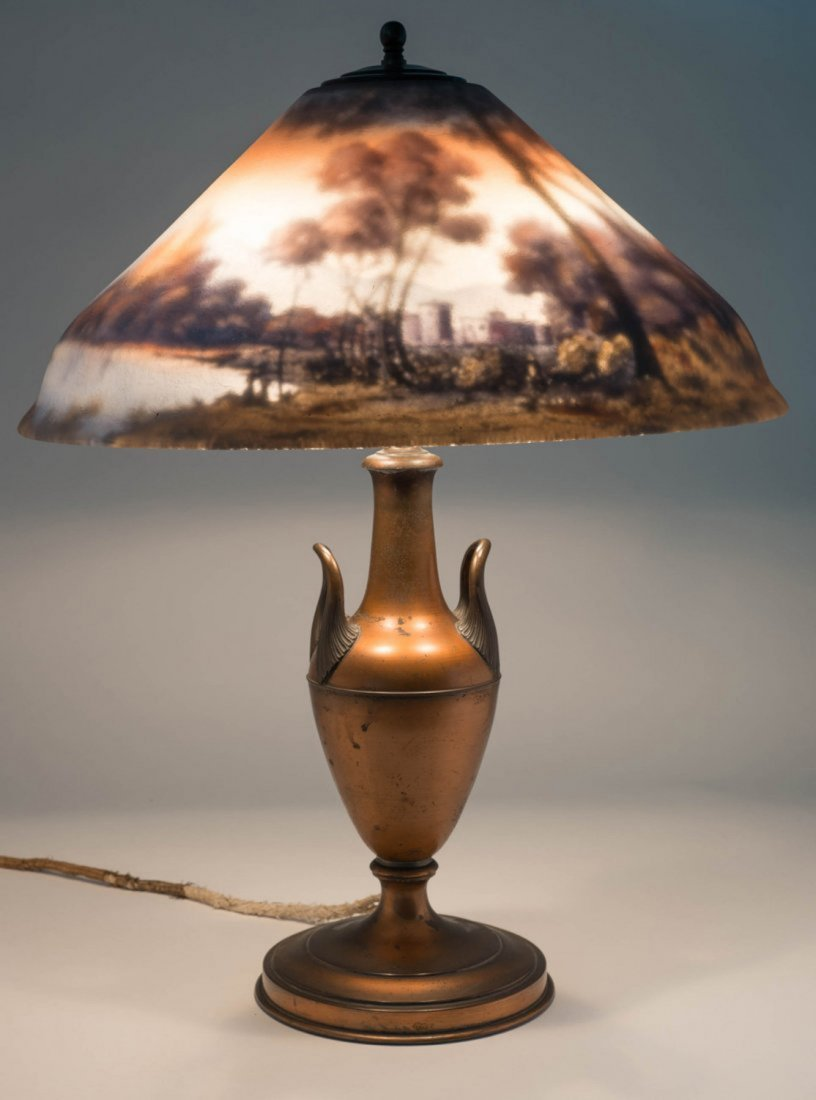 Reverse Painted Pairpoint Lamp