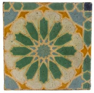 Rare Grueby Moorish Tile