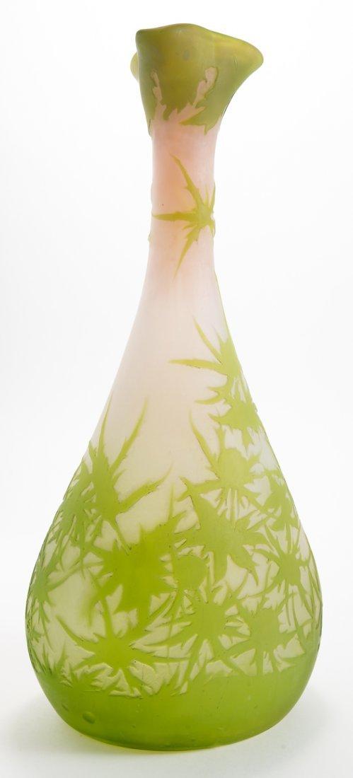 Emile Galle Green Thistle Vase
