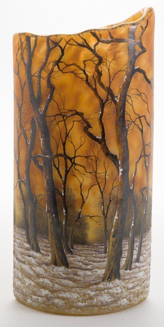 Daum Nancy Winter Landscape Vase