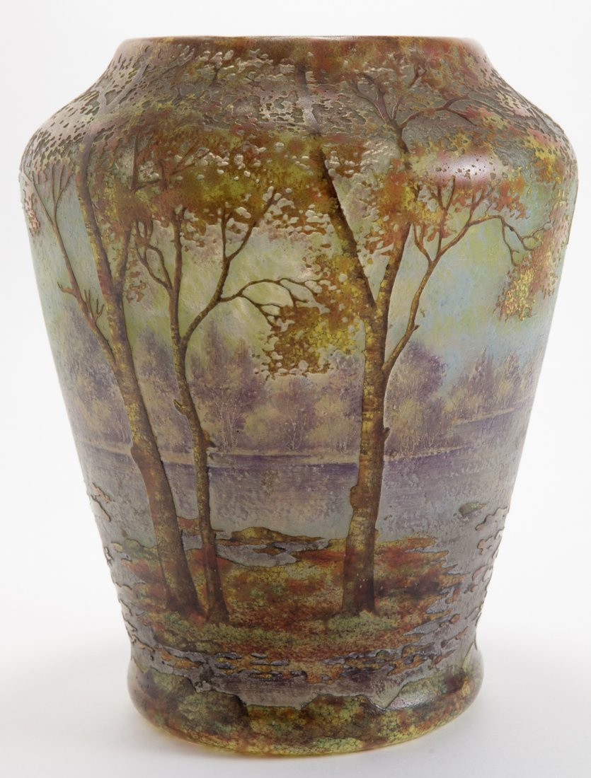 Daum Nancy Fall Landscape Vase