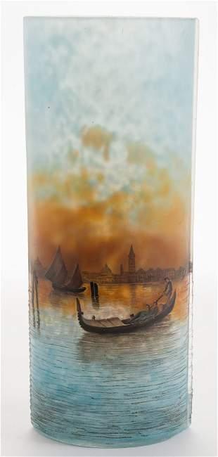 Daum Nancy Vase with Venice Water Scene