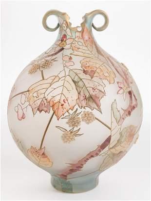 Mount Washington Royal Flemish Blackberry Vase