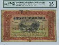 Hong Kong - P236b Mercantile Bank of India 1930 $10