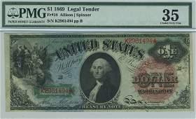 Fr. 18 - 1869 $1 Legal Tender