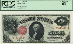 Fr. 37 - 1917 $1 Legal Tender
