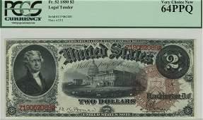 Fr. 52 - 1880 $2 Legal Tender