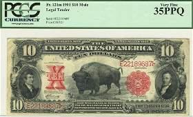 Fr. 121m - 1901 $10 Legal Tender