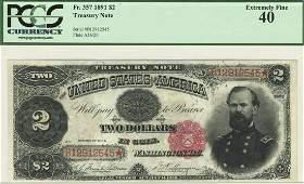 Fr. 357 - 1891 $2 Treasury Note