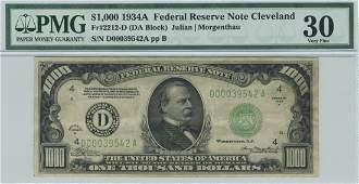 Fr. 2212-D - 1934A $1000 Cleveland FRN