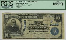 Van Nuys, CA - Ch. 10168 - 1902 $10 Blue Seal PB