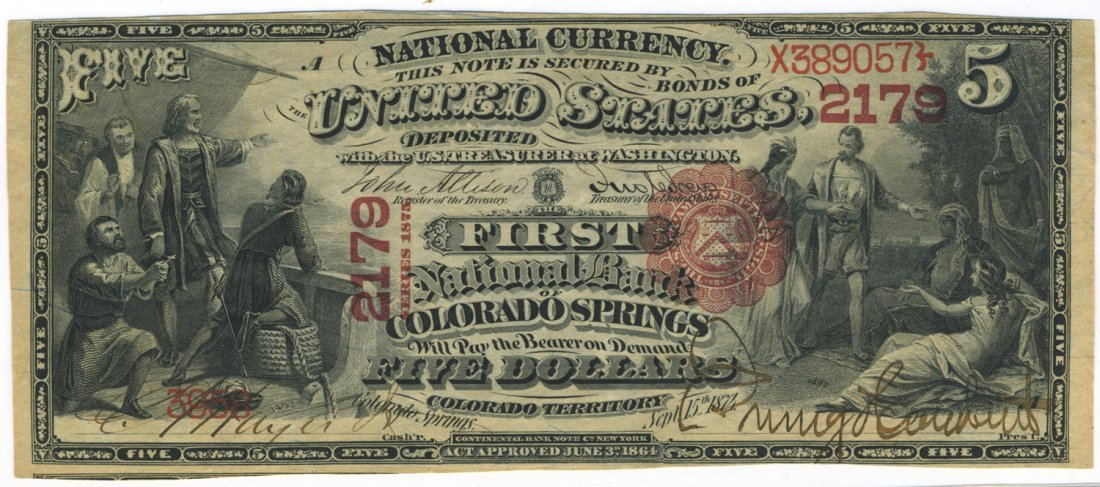 Colorado Springs, CT - Ch. 2179 - $5 Series 1875