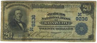 Kansas City, MO - Ch. 9236 - 1902 $20 Blue Seal Date
