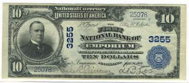 Emporium, PA - Ch. 3255 - 1902 $10 Blue Seal PB