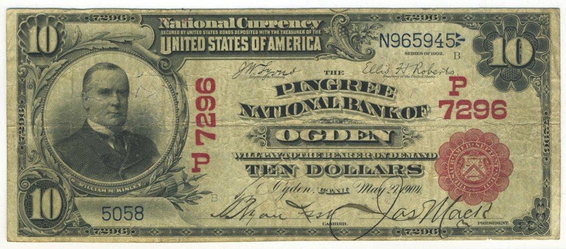 Ogden, UT - Ch. 7296 - 1902 $10 Red Seal