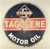 Skelly Tagolene Motor Oil Porcelain Sign
