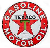 Texaco Gasoline Motor Oil Porcelain Sign