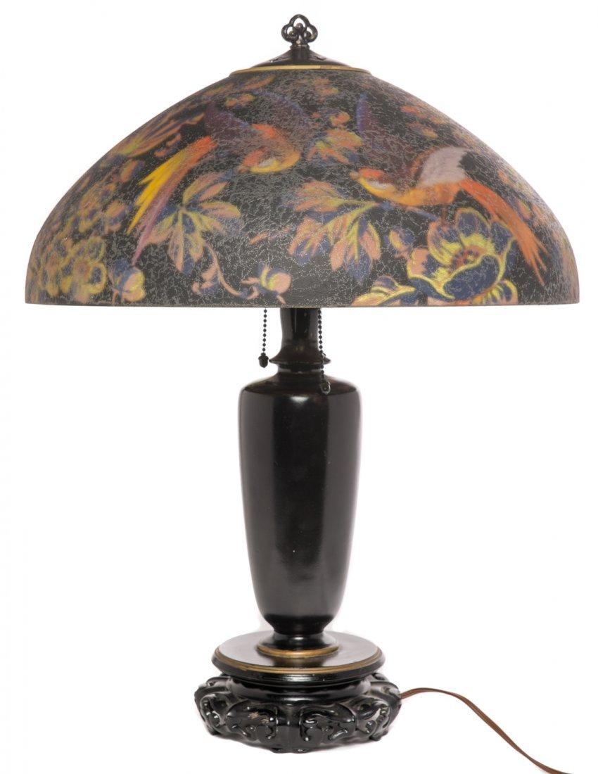 Handel Black Jungle Birds Lamp #7026 - 2
