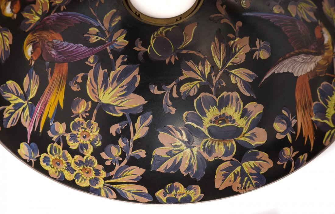 Handel Black Jungle Birds Lamp #7026 - 6