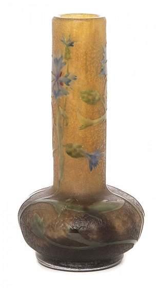 Daum Nancy Cornflower Vase
