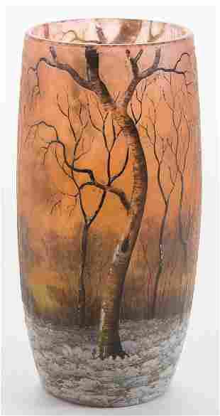 Daum Nancy Winter Tumbler Vase