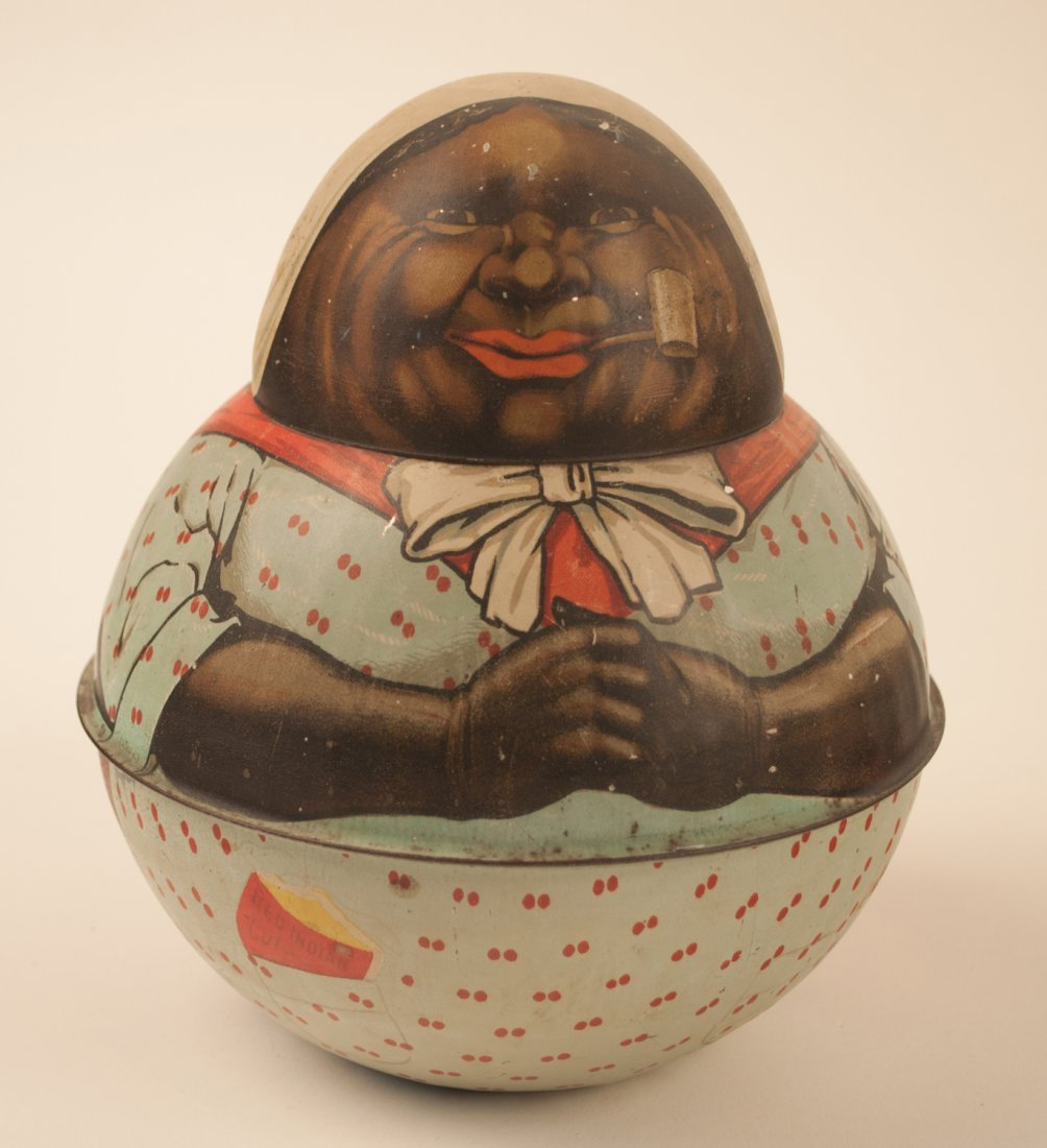 Red Indian Mammy Roly-Poly Tobacco Tin