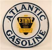 Atlantic Gasoline with Ethyl Porcelain Sign
