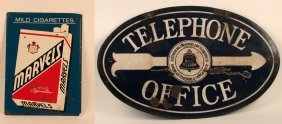 Bell Telephone Office And Marvel's Cigarettes Signs