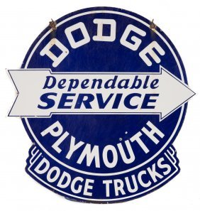 Dodge Plymouth - Dodge Trucks Service Porcelain Sign