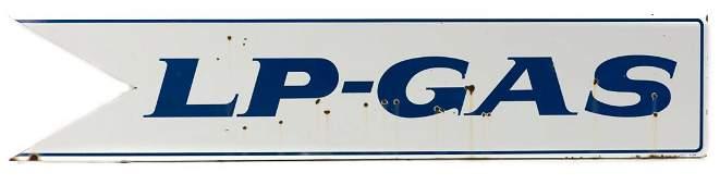 DX Gasoline LP Gas Dealer Sign