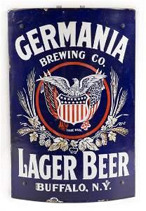 Germania Beer New York Curved Corner Porcelain Sign