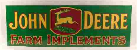 John Deere Farm Implements Sign (Restored)