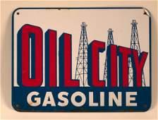 Oil City Gasoline Pump Plate Sign