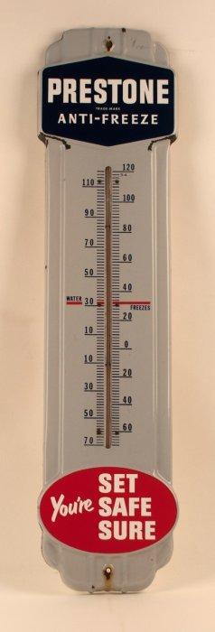Prestone Antifreeze Porcelain Thermometer