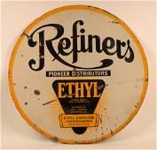 Refiners Gasoline with Ethyl Porcelain Sign