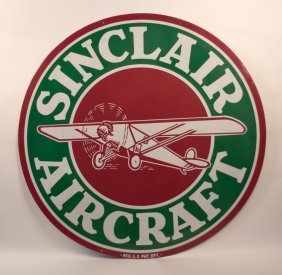 Sinclair Aircraft Red/white/green Porcelain Sign