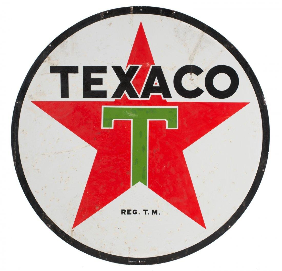 Texaco Gas Station 6ft Porcelain Sign