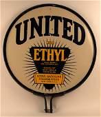 United Gasoline with Ethyl Porcelain Sign