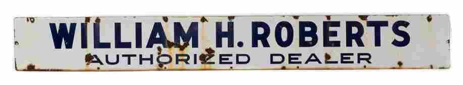 William Roberts Dealer Identification Sign