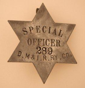 Dm&i Railway Special Officer Badge