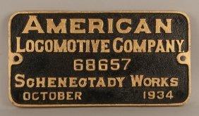 Nkp 711 - 2-8-4 Steam Locomotive Builder's Plate #68657
