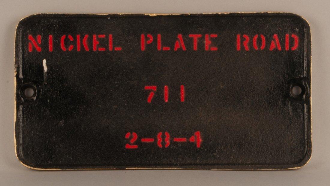 NKP 711 - 2-8-4 Steam Locomotive Builder's Plate #68657 - 2