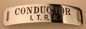 Itrr Conductor's Hat Badge