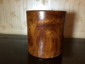antique Chinese Huanghuali brush pot
